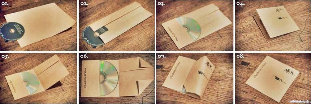 A4用紙でCDを包む優れた方法